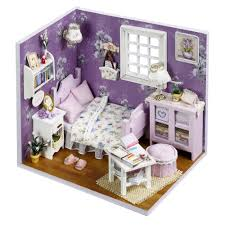 amazon com flever dollhouse miniature diy house kit creative room