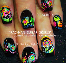 in samazement sugar skull halloween nail art tutorial robin moses