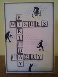 funky teenage birthday using fishtail and alphabet dies cards