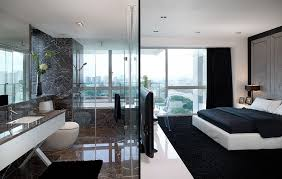 Bedroom And Bathroom Ideas Modern Bedroom Interior Design Idea With Bathroom Inside And Big