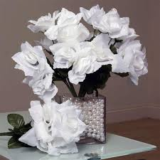 silk flower bouquets silk open white 84 pk silk flowers factory