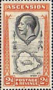 ascension islands map ascension islands sts 1934 king george v 24 map mint