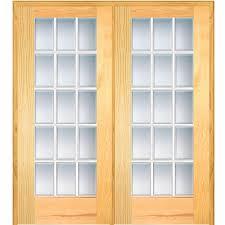 home depot doors interior pre hung mmi door 60 in x 80 in left active unfinished pine glass 15