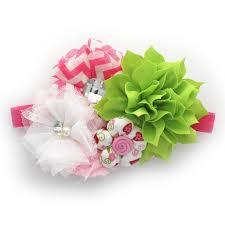 girls shabby fabric flower cluster headband u2013 my lello