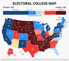 Us Election Results Map by Business Insider Electoral Projection Clinton Maintains Huge Lead