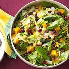 thanksgiving side salads roasted butternut tossed salad recipe taste of home