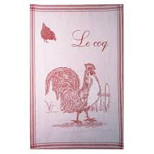 coucke le coq rooster french dish towel big design i dream of