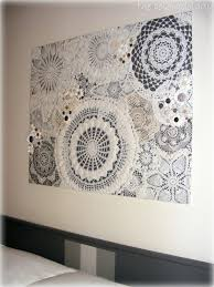 diy doily craft ideas vintage buttons walls and doilies crafts