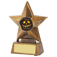 halloween trophies ghoulish cups and spooky medals and awards