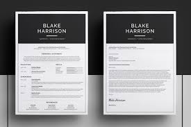 Two Page Resume Header Resume Cv Template Blake Introducing U0027blake U0027 A Simple