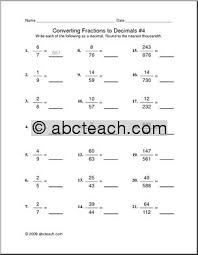 fractions and decimals worksheets grade 7 mediafoxstudio com