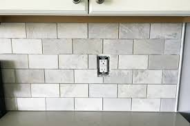 kitchen subway tile backsplashes how to install a marble subway tile backsplash just a and