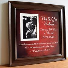 40th wedding anniversary gifts for parents wedding frame gift to parents groom from framedaeon on etsy