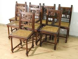 Antike Esszimmerst Le 8 Antike Stühle Aus Dunklem Massivholz Zu Verkaufen Torsten