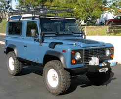 land rover ranch land rover defender 90 2 4d county pick up finished in cairns blue