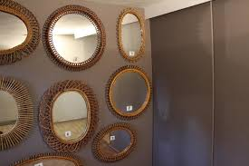 mid century italian rattan wall mirrors set of 10 for sale at pamono