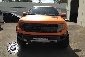 Ford Raptor Svt Truck - ford raptor svt wrapped in 3m matte orange truck wrap wrap bullys