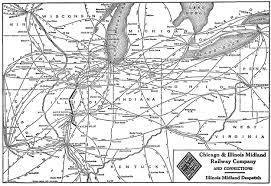 Map Of Central Illinois by The Chicago And Illinois Midland Railway