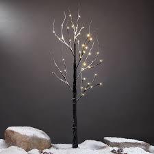 4ft snowy effect warm white twig tree pre lit 48 leds light