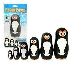 amazon com penguin nesting dolls 6 matryoshka penguins all