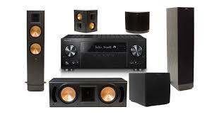 pioneer amplifier home theater pioneer vsx 831 b stock 5 2 channel av receiver w klipsch rf 82