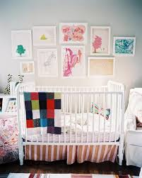 Chandelier Baby Room Baby Nursery Room With Espresso Crib And Floral Wall Crafts Also