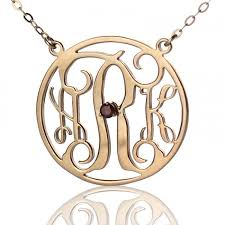 Three Initial Monogram Necklace 42 Best Ns Circle Necklace Images On Pinterest Circle Necklace
