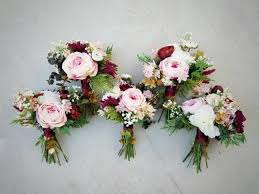 silk flower bouquets bridesmaid bouquet wedding bouquet bouquet set silk flower