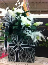 glass block floral arrangement created in a c moore moorestown