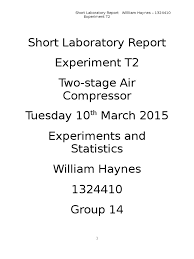 two stage air compressor lab report gas compressor flow