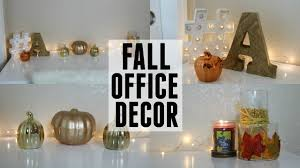 decorate with me fall office decor youtube