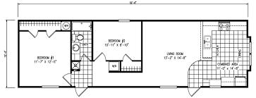 2 bedroom 1 bath floor plans the tuscany 2 bed 1 bath 797 sq ft 16x52 front kitchen floor plan