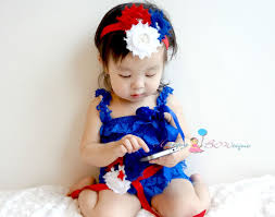 4th of july headband 4th of july trio shabby cluster headband baby girl 4th of july