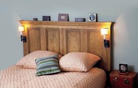 How To Make Your Own Headboard And Footboard How To Turn An Interior Door Into A Headboard This Old House