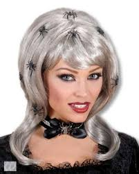 wigs for halloween spider lady wig silver blonde wig horror shop com