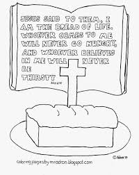 Coloring Pages For Kids By Mr Adron I Am The Bread Of Life Free Bread Coloring Page