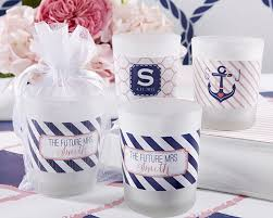personalized bridal shower favors personalized frosted glass votive nautical bridal shower