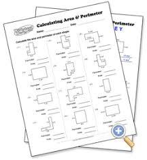 Free Printable Perimeter And Area Worksheets Calculating Area Perimeter Choose Your Parameters Regular And