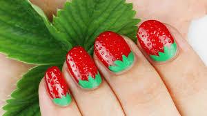 3d nail art strawberry 3d strawberry nail art tutorial youtube