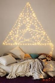 Hanging String Lights From Ceiling by Best 25 String Lights Bedroom Ideas On Pinterest Teen Bedroom