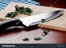kitchen cutting knives kitchen knife on cutting board stock photo 162331832 shutterstock
