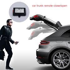 porsche macan sunroof car trunk closer car window folding rear mirror and