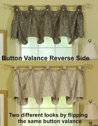 today u0027s curtain madison button valance