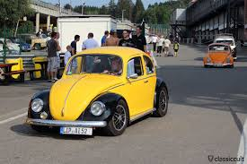 old volkswagen yellow bug show 2014 spa vw meeting classiccult
