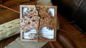laser cut wood invitations tree wood wedding invitation engraved wedding invitation laser