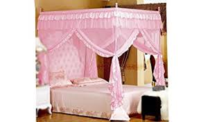 Princess Canopy Bed Pink Princess 4 Corners Post Bed Curtain Canopy