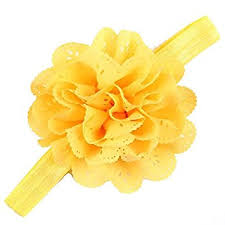 yellow headband buy bellazaara mesh flower eyelet baby elastic yellow