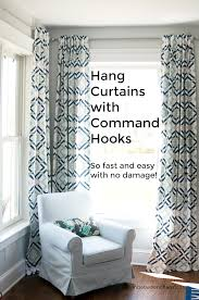 Hanging Curtains With Curtains Staggering Command Hooks For Curtain Rods Picture Ideas