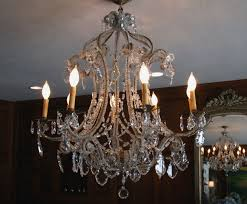 antique french macaroni bead crystal chandelier sold