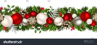 vector christmas horizontal seamless background firtree stock